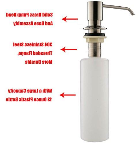 KINGO Kitchen Sink Stainless Steel Pump Lotion Deck Mount Soap Inch Reach 100% SATISFACTION