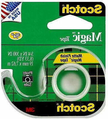 "** Magic Tape w/Refillable Dispenser, 3/4"" x 300"", Clear **"