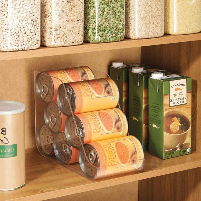 mDesign Large Standing Can Bin Canned Fo