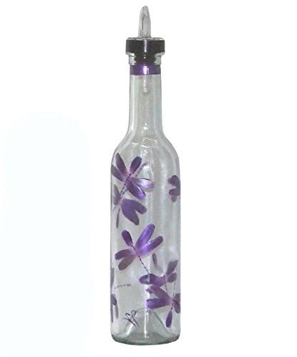 metallic purple dragonfly clear glass