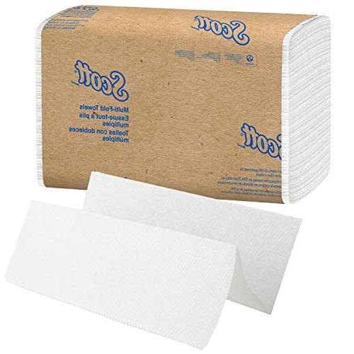 Scott Essential Multifold Towels Pockets, White, / Case, Towels