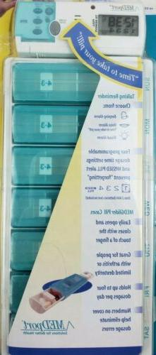NEW Medport 7 Day Medglider Talking PILL DISPENSER Medicatio