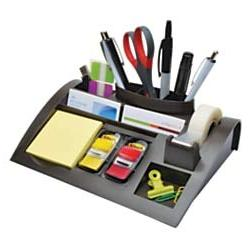 ** Notes Dispenser with Weighted Base, Plastic, 12 x 8 x 2,