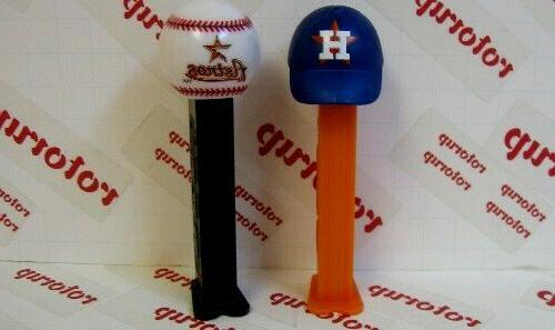 pez houston astros baseball and baseball cap