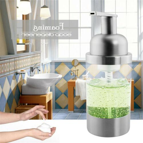 soap dispenser bottle foaming pump countertop stainless