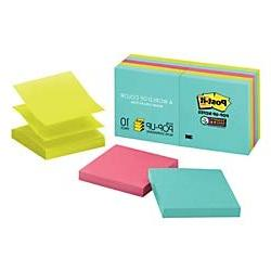"Post-it Super Sticky Pop-up Notes, 3"" x 3"", Miami Collection"