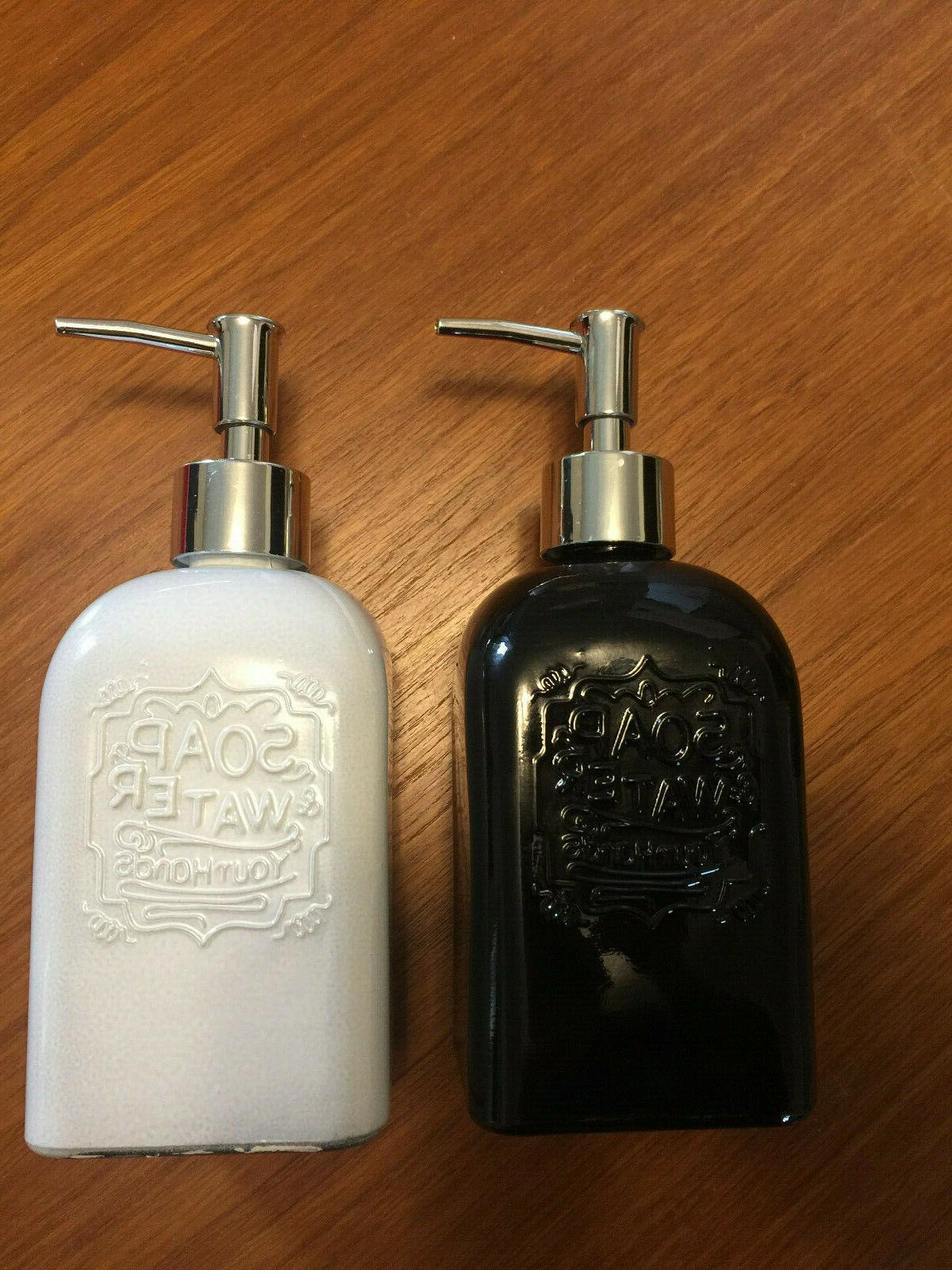 two 2 16oz square glass soap lotion
