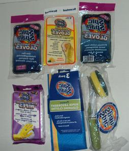 Lot Spic & Span Kitchen Cleaning Supplies Gloves Dispensing