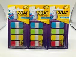 Lot of 3 Post-it Easy Dispenser Assorted Tabs 50 pieces 676-