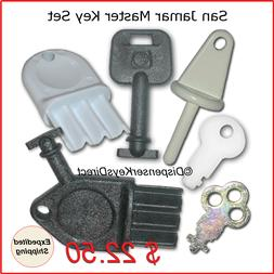 San Jamar Master Key Set for Paper Towel, Toilet Tissue & Li