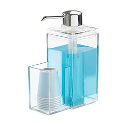 mDesign Modern Plastic Mouthwash Pump Caddy and Disposable C
