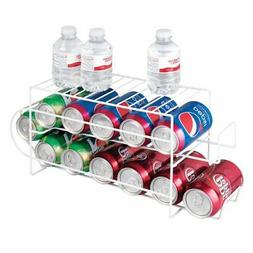 mDesign Metal 2-Tier Pop/Soda and Food Can Storage Dispenser