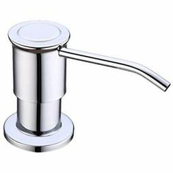 Metal Soap Dispenser For Kitchen Sink, Chrome Built Design C