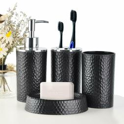 Modern Bathroom Accessory Set Soap Dispenser Toothbrush Hold