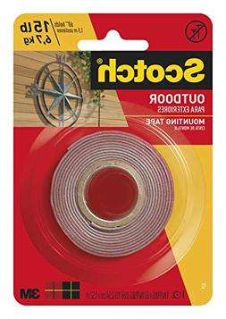 Scotch Outdoor Mounting Tape, 1-inch x 60-inches, Gray, 1-Ro
