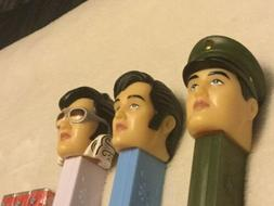 NEW OLD STOCK Lot Of 3 Elvis Presley Pez Dispensers Blue Gre