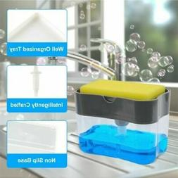 New Soap Pump Dispenser & Sponge Holder for Kitchen Dish Soa