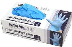 Safeguard Nitrile Disposable Gloves, Powder free, Food Grade