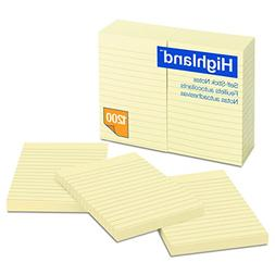 Highland Notes, Pad, 4 Inches x 6 Inches, Lined, Yellow, 12