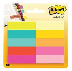 Post-it Page Markers, Assorted Bright Colors, 1/2 x 2-Inches