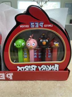 Pez Angry Birds Limited Edition Tin- 4 Dispensers W/Candy Re