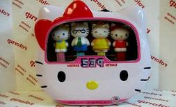 PEZ BLOW-OUT on Hello Kitty tins. 4 dispensers plus  PEZ can
