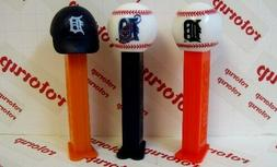 PEZ Detroit Tigers Baseballs and Baseball Cap.PEZ dispensers