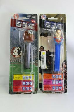 Pez Dispensers Superman and Florida State football  Lot of 2