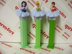 PEZ European fairies, Fawn, Tinkerbell and Silvermist 2008 P