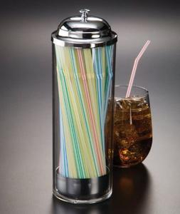 Plastic Cylinder Straw Dispenser Holds up to 8 Straws
