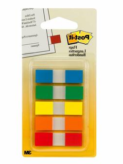 Post-it Flags Page Flags in Portable Dispenser, 5 Colors, 5