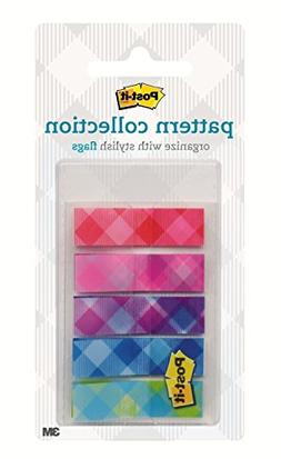 Post-it Color Mixing Flags, Gingham Pattern Collection, 1/2