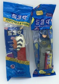 Retired Batman and Ahsoka 2 PEZ Dispensers Packaged With Ref