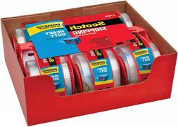 Scotch Shipping Packaging Tape Clear 6 Rolls w/ Dispensers 3