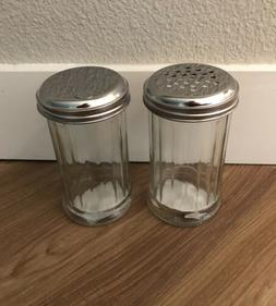 Set of 2 Glass Sugar Dispensers with Metal Lids, 5.5 in. Fre
