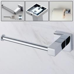 Siver Square Toilet Papers Roll Holder Chrome Wall Mounted T