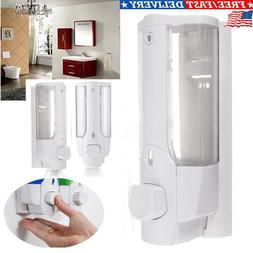 Soap Dispenser Wall Mounted Bathroom Shower Manual Kitchen H
