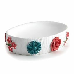Spring Truck Bathroom Countertop Soap Dish with Floral Accen