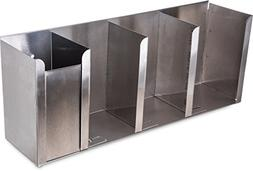 Carlisle 388804L Stainless Steel 18-8 Four Station Lid and S