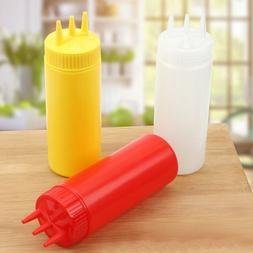 Storage Organization Mustard Squeeze Bottle Jar Dispenser Ki