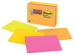 Post-it Super Sticky Notes, 2x Sticking Power, 6 in x 4 in,