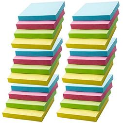 Super Sticky Notes, Self-Stick Notes, 24 Pads/Pack, 100 Shee