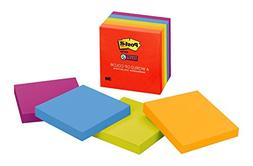 Post-it Super Sticky Notes, 2x Sticking Power, 3 in x 3 in,