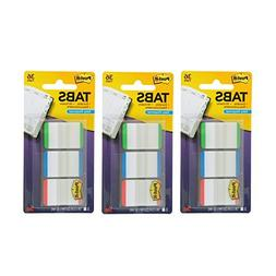 Post-it Tabs with On-the-Go Dispenser, 1-Inch Lined, Green,