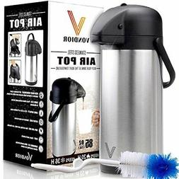 Thermal Coffee Airpot - Beverage Dispenser  By Vondior - Sta