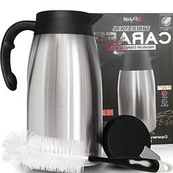Thermal Coffee Carafe Stainless Steel - Heavy Duty, 24hr Lab