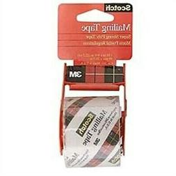 Scotch Ultra Clear Mailing Packaging Tape with dispenser, 1.