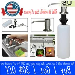 US 500ML Stainless Steel Soap Dispenser Kitchen Sink Liquid