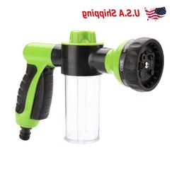 Water Hose Nozzle Gun 8 Spray Patterns Built-in Soap Dispens